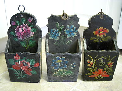 Chinese chop stick holders - hand painted