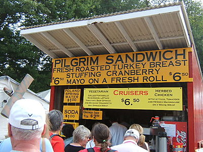 Pilgrim Sandwich! A staple food at Brimfield.