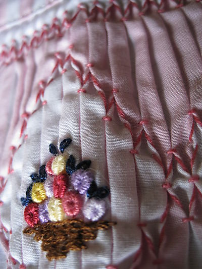 hand smocking and embroidery