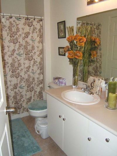 our pretty new bathroom