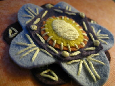 felt flower greeting card