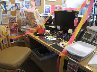 party at my desk!! who wants to come?!