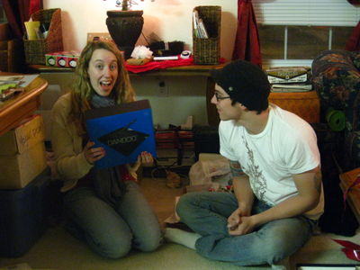 "the art of opening a gift is all in the ""face of excitement"""