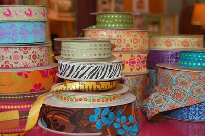amazing ribbons at Sew to Speak