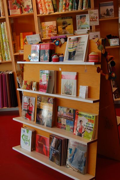 Book collection at Sew to Speak